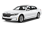 2020 BMW 7 Series 740i Luxury 4 Door Sedan angular front stock photos of front three quarter view