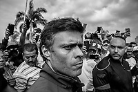 Opposition leader of Venezuela Leopoldo Lopez   freed from house arrest  by a group of Venezuelan military members who support Juan Guaidó, the head of Venezuela's National Assembly who has been recognized as the country's acting president by more than 50 countries<br /> López is one of the opposition leaders who has been most targeted by the government of Nicolás Maduro. He was put under house arrest in July 2017 for inciting violence at the 2014 opposition protests.