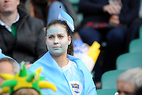 An Argentinian fan during the Semi Final of the Rugby World Cup 2015 between Argentina and Australia - 25/10/2015 - Twickenham Stadium, London<br /> Mandatory Credit: Rob Munro/Stewart Communications