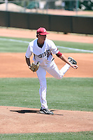 Randall Fant #32 of the Arkansas Razorbacks plays against the Charlotte 49ers in the Tempe Regional of the NCAA baseball post-season at Packard Stadium on June 3, 2011 in Tempe, Arizona. .Photo by:  Bill Mitchell/Four Seam Images.