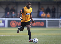 George Elokobi of Maidstone United in action during Maidstone United vs Eastbourne Borough, Vanarama National League South Football at the Gallagher Stadium on 9th October 2021