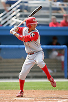 August 25 2008:  Shortstop Troy Hanzawa of the Williamsport Crosscutters, Class-A affiliate of the Philadelphia Phillies, during a game at Dwyer Stadium in Batavia, NY.  Photo by:  Mike Janes/Four Seam Images