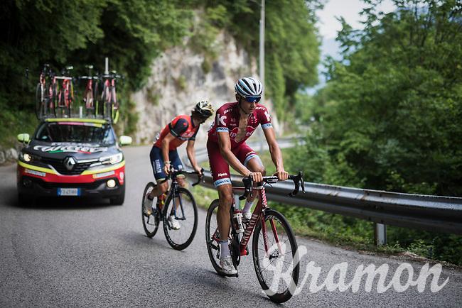 Maxim Belkov (RUS/Katusha) up the Foza climb (1086m)<br /> <br /> Stage 20: Pordenone › Asiago (190km)<br /> 100th Giro d'Italia 2017