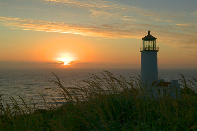 Sunset at North Head Lighthouse