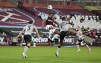 West Ham United's Sebastien Haller scores his side's second goal <br /> <br /> Photographer Rob Newell/CameraSport<br /> <br /> Carabao Cup Second Round Northern Section - West Ham United v Charlton Athletic - Tuesday 15th September 2020 - London Stadium - London <br />  <br /> World Copyright © 2020 CameraSport. All rights reserved. 43 Linden Ave. Countesthorpe. Leicester. England. LE8 5PG - Tel: +44 (0) 116 277 4147 - admin@camerasport.com - www.camerasport.com