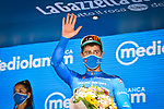 Peter Sagan (SVK) Bora-Hansgrohe takes over the mountains Maglia Azzurra at the end of Stage 2 of the 103rd edition of the Giro d'Italia 2020 running 149km from Alcamo to Agrigento, Sicily, Italy. 4th October 2020.  <br /> Picture: LaPresse/Massimo Paolone | Cyclefile<br /> <br /> All photos usage must carry mandatory copyright credit (© Cyclefile | LaPresse/Massimo Paolone)