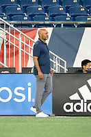 FOXBOROUGH, MA - SEPTEMBER 04: New England Revolution II coach Clint Peay during a game between Forward Madison FC and New England Revolution II at Gillette Stadium on September 04, 2020 in Foxborough, Massachusetts.