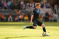 SAN JOSE, CA - SEPTEMBER 29: Jackson Yueill #14 of the San Jose Earthquakes during a Major League Soccer (MLS) match between the San Jose Earthquakes and the Seattle Sounders on September 29, 2019 at Avaya Stadium in San Jose, California.