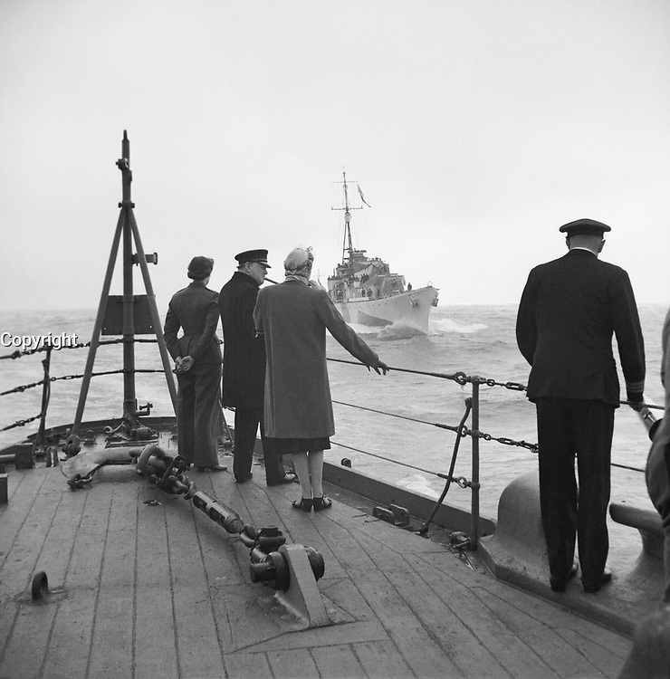 Winston Churchill during the Second World War The Prime Minister Winston Churchill, his wife, Clementine, and daughter, Mary, on board the battleship HMS RENOWN during their return voyage to the United Kingdom from the USA and Canada in September 1943.