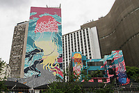 27.11.2019 - Artista é detido por grafitar prédio sem autorização em SP
