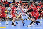 Magdeburgs Magnus Gullerud (Nr.21) beim Wurf beim Spiel in der Handball Bundesliga, Die Eulen Ludwigshafen - SC Magdeburg.<br /> <br /> Foto © PIX-Sportfotos *** Foto ist honorarpflichtig! *** Auf Anfrage in hoeherer Qualitaet/Aufloesung. Belegexemplar erbeten. Veroeffentlichung ausschliesslich fuer journalistisch-publizistische Zwecke. For editorial use only.