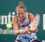 Kateryna Bondarenko (UKR) battles against Madison Keys (USA) at the Family Circle Cup in Charleston, South Carolina on April 8, 2015.