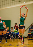 9 November 2013: Vermont High School teams compete at the Annual State Championships held at Johnson State College in Johnson, Vermont. High School Volleyball has been granted a two-year exhibition status in the State of Vermont starting with the 2013 season, in effort to attain full varsity status. Mandatory Credit: Ed Wolfstein Photo *** RAW (NEF) Image File Available ***