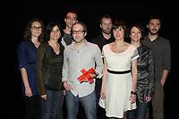 Montreal (QC) CANADA - May 18  2011  Gala NUMIX :  Production Convergence - Section variÈtÈ et fiction.<br /> Gagnant : MusÈe Eden - TOXA - SOVIMAGE : <br /> Arri??re :Samuel Jacques, Philippe Lamarre, TOXA, Franck Desvernes, Avant :<br /> Marie-Pier Gauthier, Sophie Desch??nes, Martin LalibertÈ, Sophie BÈgin, Sylvie Tremblay.<br /> <br /> Photo : (c) 2011, Pierre Roussel -  Pour Usage editorial relie au gala NUMIX 2011