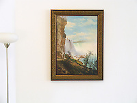 """Bierstadt: """"View of the Niagara Falls from the American Side"""" Framed Dims. 38"""" x 28"""" Image Dims. 31.5"""" x 22"""" ,  Digital Print with Finish"""