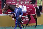 October 06, 2019, Paris (France) - Victor Ludorum after winningh the Qatar Prix Jean-Luc Lagardere (Gr. I) on October 6 in ParisLongchamp. [Copyright (c) Sandra Scherning/Eclipse Sportswire)]
