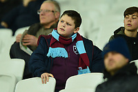 Young West Ham fan during West Ham United vs Fulham, Premier League Football at The London Stadium on 22nd February 2019