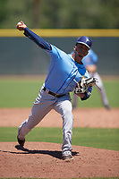 Tampa Bay Rays pitcher Bryan Herrera (79) during a Minor League Extended Spring Training game against the Atlanta Braves on April 15, 2019 at CoolToday Park Training Complex in North Port, Florida.  (Mike Janes/Four Seam Images)