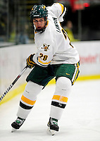 18 October 2009: University of Vermont Catamount defenseman Dan Lawson, a Junior from Oak Forest, IL, in action during the first period against the Boston College Eagles at Gutterson Fieldhouse in Burlington, Vermont. The Catamounts defeated the Eagles 4-1 to open Vermont's America East hockey season. Mandatory Credit: Ed Wolfstein Photo