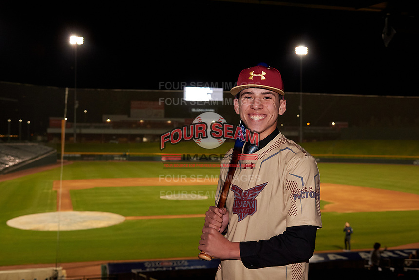 Carson Gnetz during the Under Armour All-America Tournament powered by Baseball Factory on January 17, 2020 at Sloan Park in Mesa, Arizona.  (Zachary Lucy/Four Seam Images)Under Armour All-America Tournament powered by Baseball Factory on January 17, 2020 at Sloan Park in Mesa, Arizona.  (Zachary Lucy/Four Seam Images)