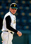24 April 2007: University of Vermont Catamounts' Head Coach Bill Currier, in his 20th season at UVM, at work against the Dartmouth College Big Green at Historic Centennial Field, in Burlington, Vermont. The Catamounts defeated the Big Green 11-5...Mandatory Photo Credit: Ed Wolfstein Photo
