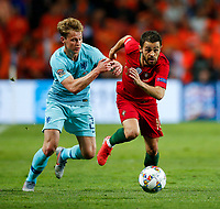 Frenkie de Jong of Netherlands and Bernardo Silva of Portugal during the UEFA Nations League Final match between Portugal and Netherlands at Estadio do Dragao on June 9th 2019 in Porto, Portugal. (Photo by Daniel Chesterton/phcimages.com)<br /> Finale <br /> Portogallo Olanda<br /> Photo PHC/Insidefoto <br /> ITALY ONLY