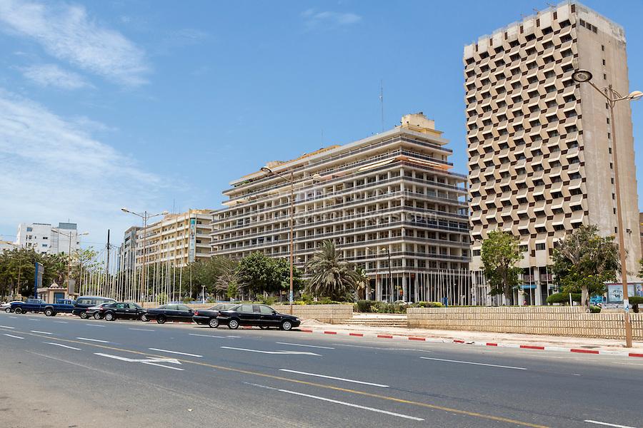 Dakar, Senegal.  Office Buildings, Independence Square, Place de l'Independence.