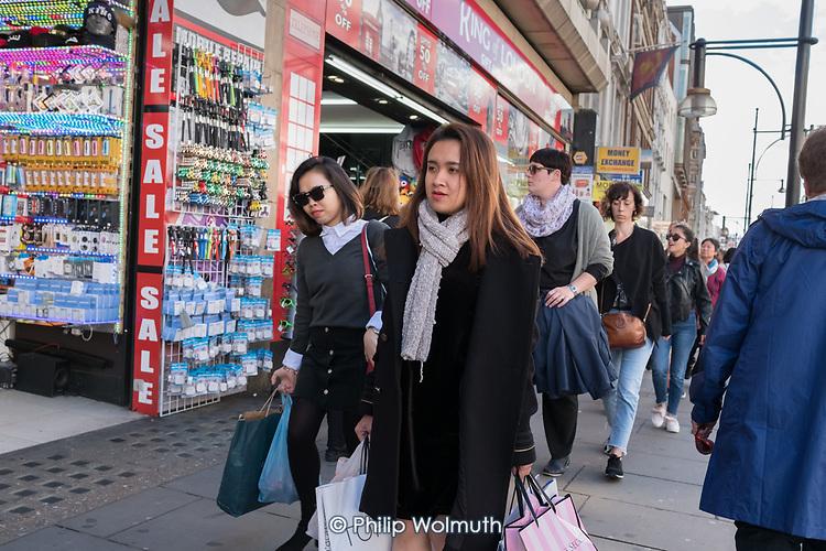 Shoppers in Oxford Street, London.