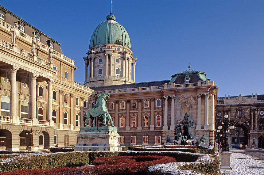 The ROYAL PALACE on CASTLE HILL is now the home of the NATIONAL GALLERY & BUDHAPEST HISTORY MUSEUM