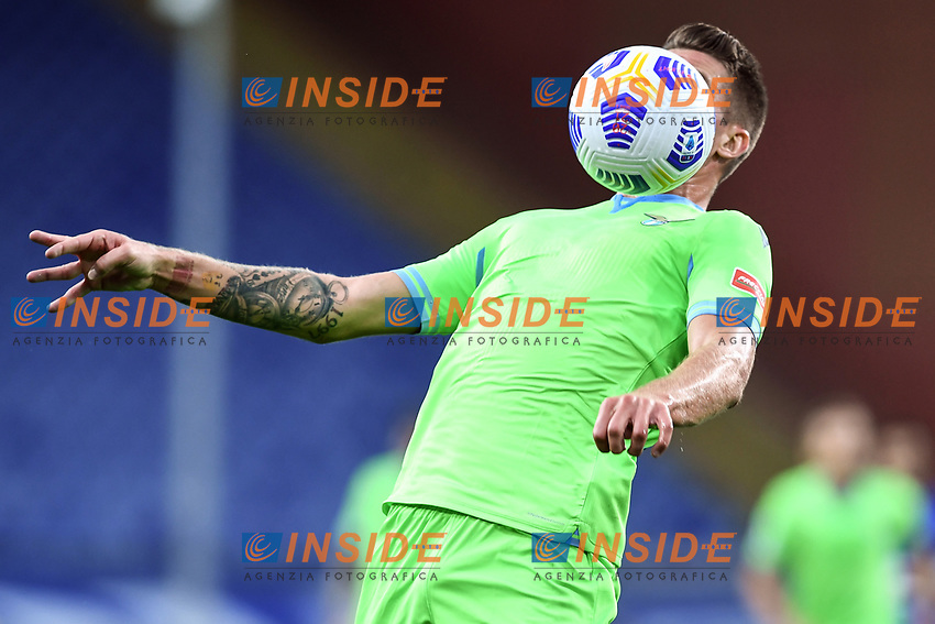 Sergej Milinkovic-Savic of SS Lazio in action during the Serie A football match between UC Sampdoria and SS Lazio at stadio Marassi in Genova (Italy), October 17th, 2020. <br /> Photo Image Sport / Insidefoto