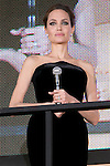 """Angelina Jolie, Jun 23, 2014 : Tokyo, Japan : The actress Angelina Jolie appears during the Japan premier for the film """"Maleficent"""" in Yebisu Garden Place on June 23, 2014. The movie will be released on July 5th. (Photo by Rodrigo Reyes Marin/AFLO)"""