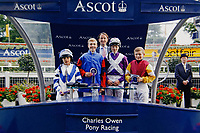 UNKNOWN COPYRIGHT<br /> Pictured: James Bowen, 12 (R) in Ascot. Wednesday 10 January 2018<br /> Re: Peter Bower Racing in Little Newcastle, west Wales, UK.