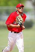 July 14, 2009:  Center Fielder Reymond Fuentes (3) of the GCL Red Sox runs into the dugout during a game at the Boston Red Sox Training Complex in Fort Myers, FL.  Fuentes was taken by the Red Sox in the first (1st) round of the 2009 MLB draft.  The GCL Red Sox are the Gulf Coast Rookie League affiliate of the Boston Red Sox.  Photo By Mike Janes/Four Seam Images