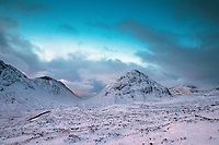 Buachaille Etive Beag and the Lairig Gartain from the Devil's Staircase on the West Highland Way, Glencoe, Highland