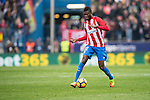 Thomas Teye Partey of Atletico de Madrid runs with the ball during the match Atletico de Madrid vs Valencia CF, a La Liga match at the Estadio Vicente Calderon on 05 March 2017 in Madrid, Spain. Photo by Diego Gonzalez Souto / Power Sport Images