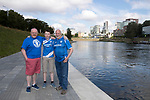 FK Trakai v St Johnstone…05.07.17… Europa League 1st Qualifying Round 2nd Leg<br />Saints fans in Vilnius ahead of kick off, from left, Paul Gallagher, Louis Gallagher and Ian MacPherson from Perth<br />Picture by Graeme Hart.<br />Copyright Perthshire Picture Agency<br />Tel: 01738 623350  Mobile: 07990 594431