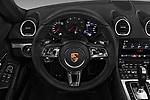 Car pictures of steering wheel view of a 2018 Porsche 718 Cayman S 2 Door Coupe