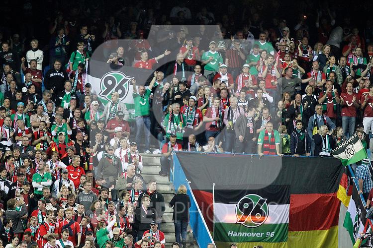 Hannover 96's fans during UEFA Europa League Match. March 29, 2012. (ALTERPHOTOS/Alvaro Hernandez)