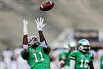 North Texas Mean Green wide receiver Thaddeous Thompson (11) in action during the Zaxby's Heart of Dallas Bowl game between the Army Black Knights and the North Texas Mean Green at the Cotton Bowl Stadium in Dallas, Texas.