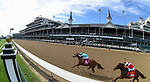September 4, 2020: Monomoy Girl, #8, ridden by Florent Geroux, wins the La Troienne on Kentucky Oaks Day. The races are being run without fans due to the coronavirus pandemic that has gripped the world and nation for much of the year, with only essential personnel, media and ownership connections allowed to attend Churchill Downs in Louisville, Kentucky. Scott Serio/Eclipse Sportswire/CSM