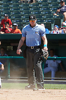 Umpire Andy Stukel during the first game of a doubleheader between the Peoria Chiefs and South Bend Cubs on July 25, 2016 at Four Winds Field in South Bend, Indiana.  South Bend defeated Peoria 9-8.  (Mike Janes/Four Seam Images)