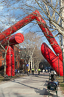 Sculpture on the campus of the University of Pennsylvania, Philadelphia, PA