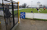 Cammell Laird 5 Guiseley 4, 20/12/2008. Kirklands, Unibond League premier division. Cammell Laird FC players warming up before they take on Guiseley in a Unibond League premier division game at Kirklands, Birkenhead. Lairds beat their visitors, who were lying second in the table by 5 goals to 4 on front of a crowd of just 112. Formed in 1907, Lairds joined the English pyramid in 2004 and gained three promotions in five years, but financial problems forced the club to revert to amateur status in December 2008. Photo by Colin McPherson