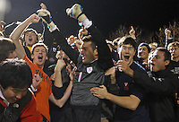 Virginia beat Maryland 2-1 for the NCAA semi-finals December 5, 2009 in Charlottesville, Va.  (Photo/Andrew Shurtleff)