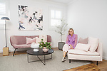 SA Home and Life mag , My Place, At home with. Artist Belinda Benton at her home North Glenelg . Photo : Nick Clayton.