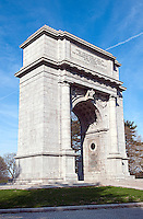 The National Memorial Arch at Valley Forge National Historical Park honors the Revolutionary War soldiers who endured the brutal winter of 1777, when General George Washington and his troops made the area its headquarters, Valley Forge Historical Park, Pennsylvania