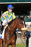 21 October. Daisy Devine and Calvin Borel win the $150,000 Pin Oak Valley View GRIII at Keeneland racecourse for owner James Miller and trainer Andrew McKeever.