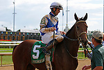 September 12, 2015:  Dothraki Queen and jockey Corey Lanerie win the 47th running of the Pocahontas Grade 2 $200,000 for 2 year old fillies at Churchill Downs for trainer Kenneth McPeek and owner Magdalena Racing.  Candice Chavez/ESW/CSM