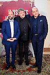 Javier Cansado, Javier Coronas and Pepe Colubi during the first Gala of Ilustres Ignorantes Awards at Teatro Nuevo Alcala in Madrid. June 07. 2016. (ALTERPHOTOS/Borja B.Hojas)