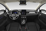 Stock photo of straight dashboard view of 2020 Renault Captur E-Tech-First 5 Door SUV Dashboard